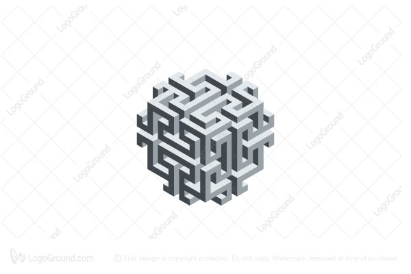 abstract 3d structure logo