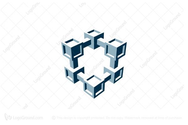3d cubic letter s logo