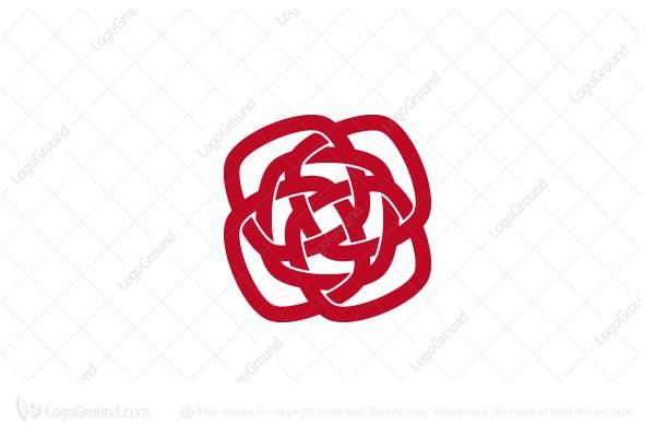 Geometric Rose Logo