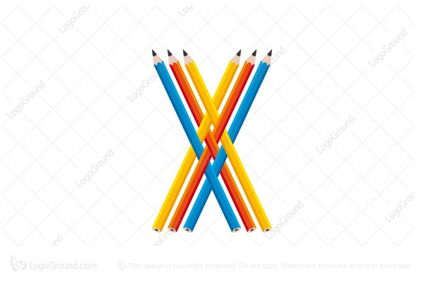 Exclusive Logo 58271 Pencil Letter X