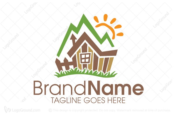 Captivating Logo For Sale: Mountain Cabin Logo