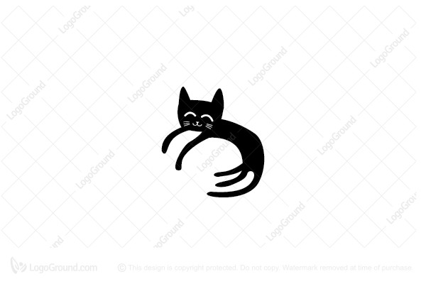 Logo for sale: Lazy Cat Logo