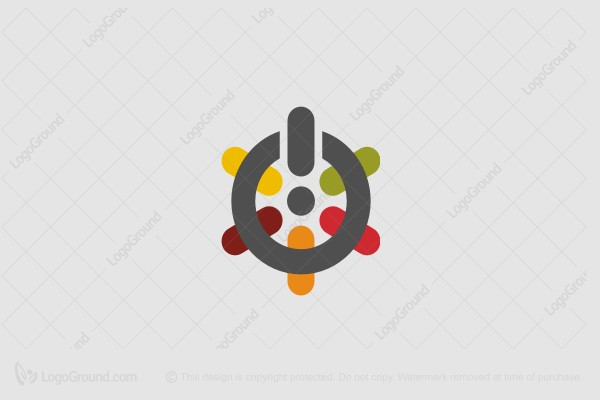 Logo for sale: IT Flower Logo