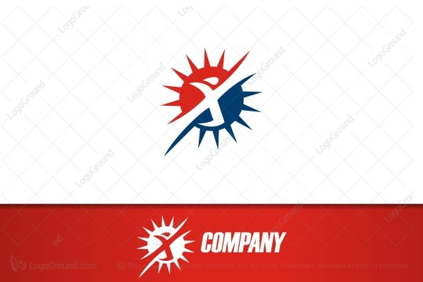 Logo for sale: Athletic Person Logo
