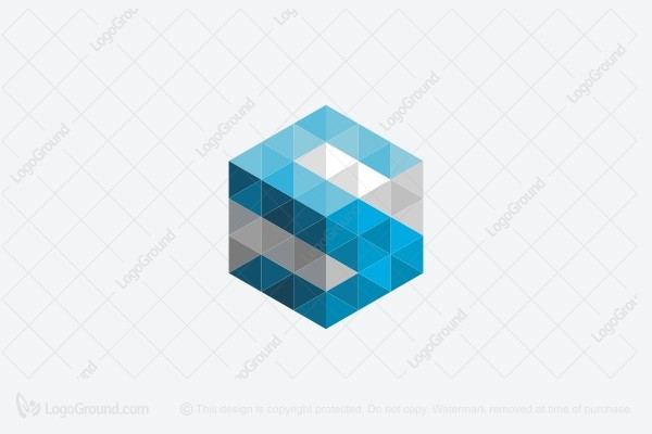 Alpha Cube Monogram Logo
