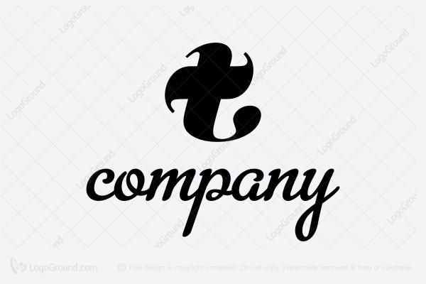 Logo For Sale Stylish Letter T