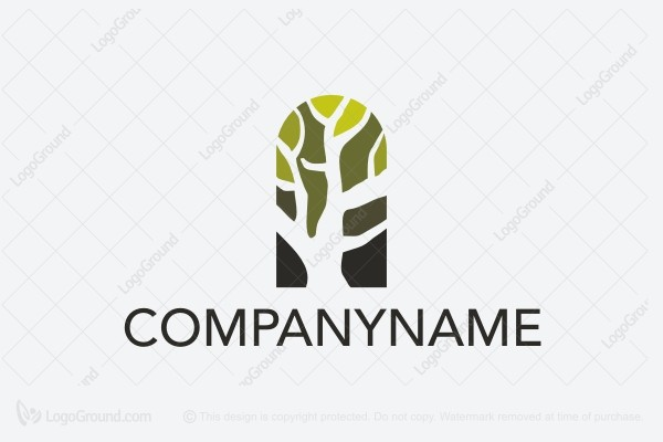 Logo for sale: Tree In Arch Logo
