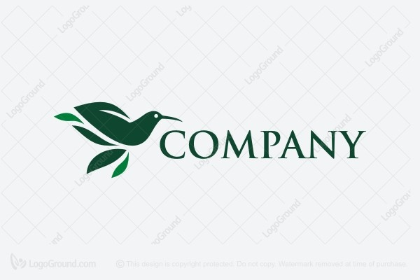 Logo for sale: Hummingbird Leaves Logo
