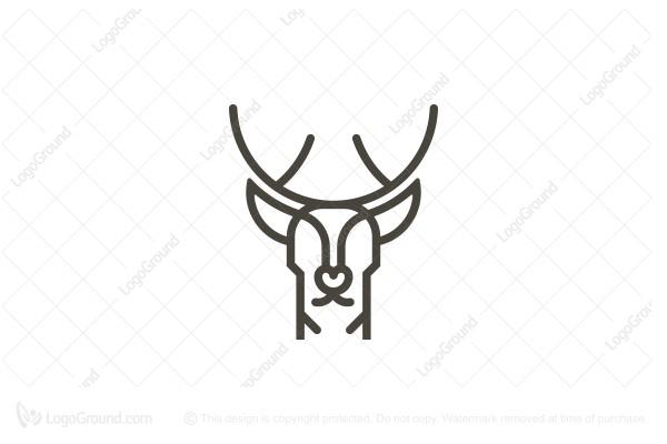 Exclusive Logo 46641, Deer Head Logo