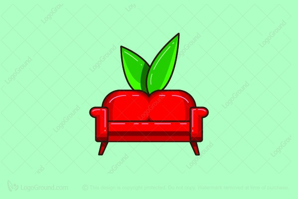 Logo for sale: Apple Couch Logo