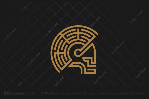 Logo for sale: Helmet Labyrinth Logo