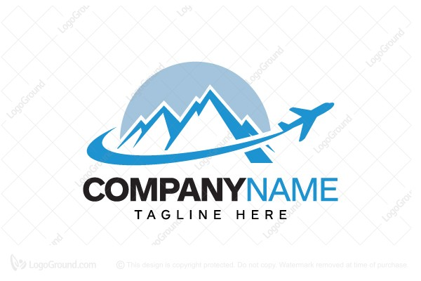 mountain airplane logo