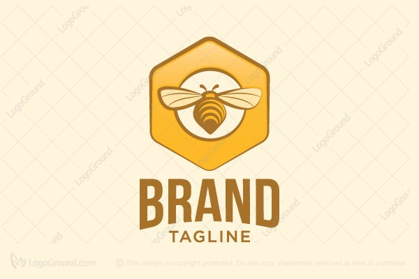 Logo for sale: Bee Flying Logo