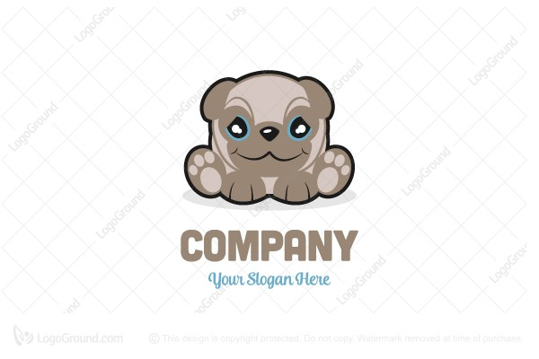 Logo for sale: Pug Dog Logo Mascot Logo