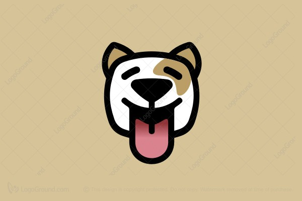 Happy Dog Cartoon Logo