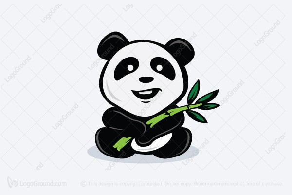 Logo for sale: Panda Bamboo Logo