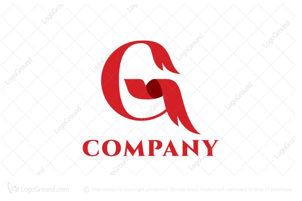 Logo for sale: Letter G Ribbon Logo