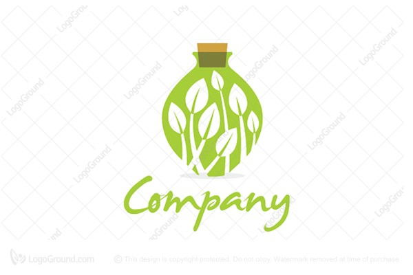 Logo for sale: Bottle Garden Logo