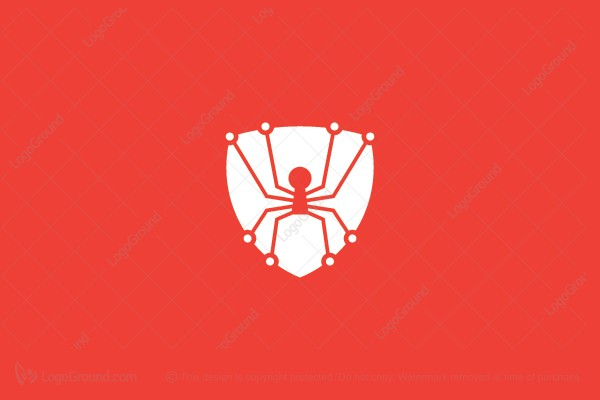 Logo for sale: Spider Shield Logo