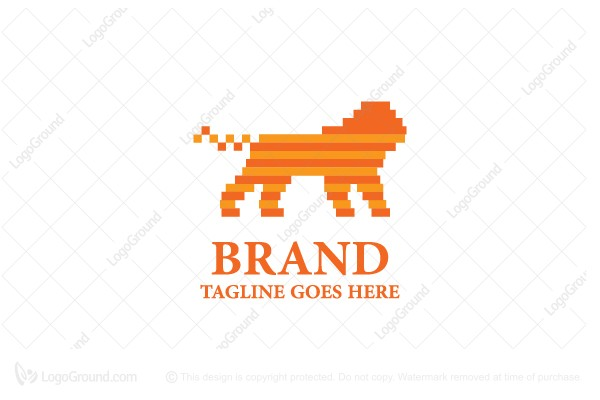 Logo for sale: Digi Lion Logo