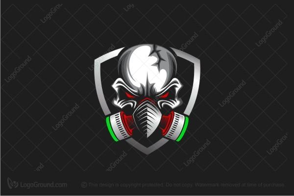 Exclusive Logo 44057, Skull Gasmask Logo