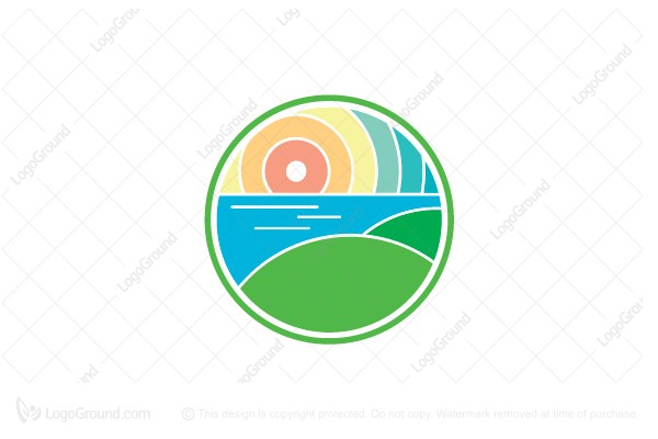 Logo for sale: Mountain And Island Logo