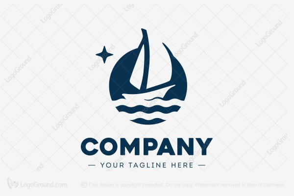 Logo for sale: Sailboat Logo