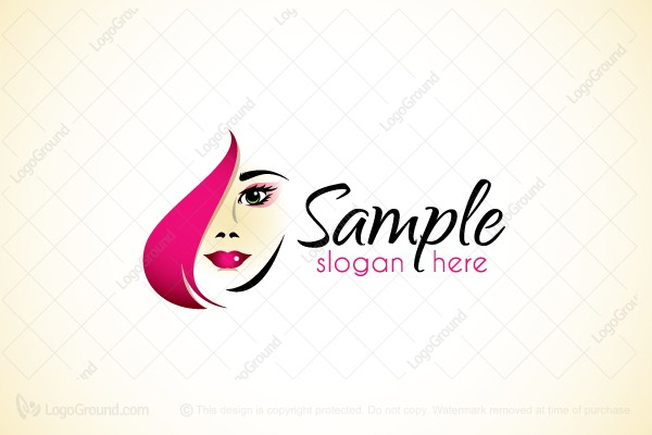 Beauty Face Hair Makeup Logo