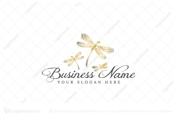 Logo for sale: Whimsical Dragonfly Logo