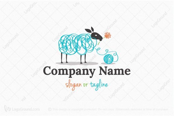 Wool Sheep Logo