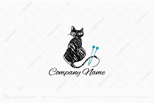 Knitting Cat Logo