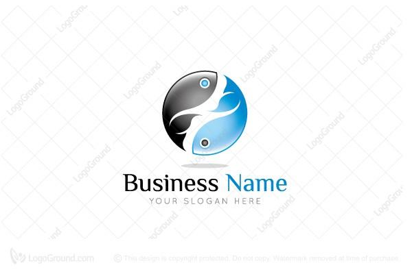 Yin Yang Fish Logo
