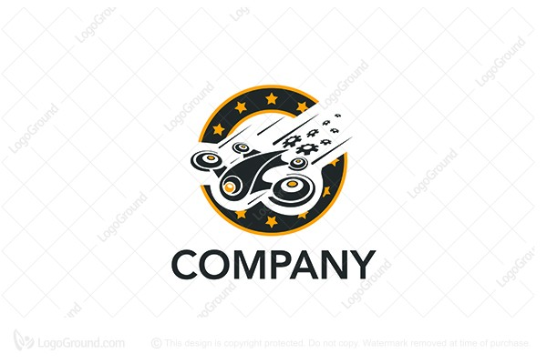 Logo for sale: Vintage Drone Logo