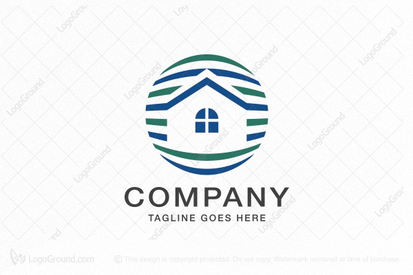 Logo for sale: Striped Sphere Home Logo