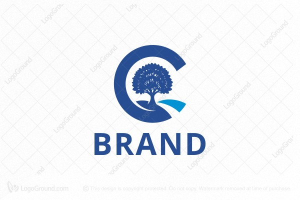 Logo for sale: Letter C - Tree Logo