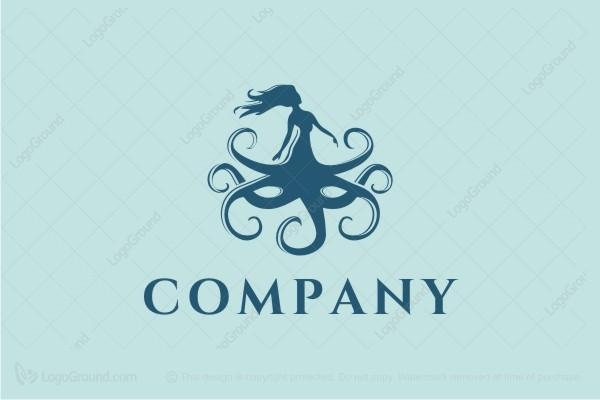 Mermaid Octopus Logo