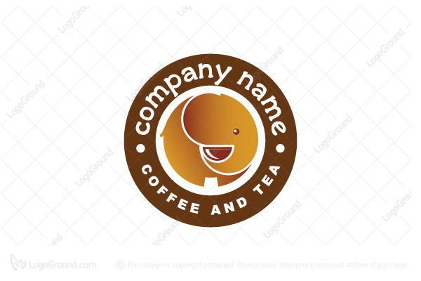 Logo for sale: Elephant Coffee And Tea Logo
