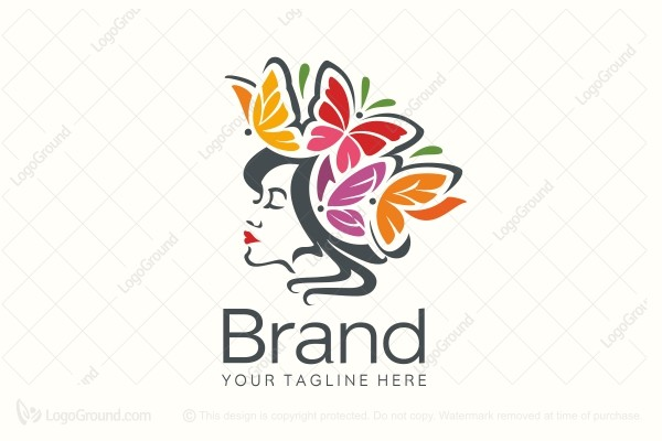 Logo for sale: Butterfly Girl Logo