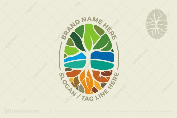 Logo for sale: Tree And Roots Logo