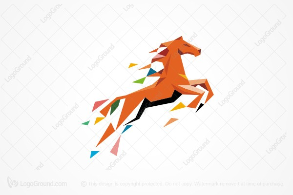 Logo for sale: Abstract Horse Logo