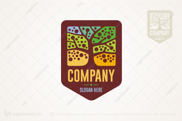 Logo For Sale Vintage Tree