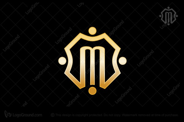 Exclusive Logo 58726 Gold M Logo