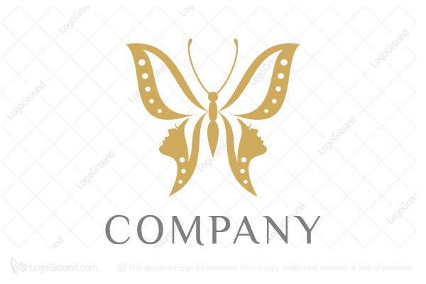 Logo for sale: Butterfly Faces Logo