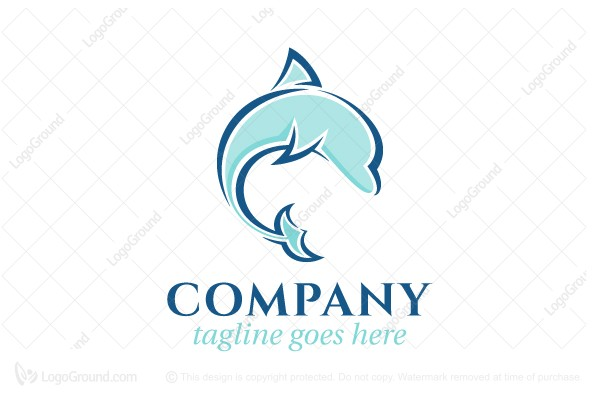 Logo for sale: Playful Dolphin Logo