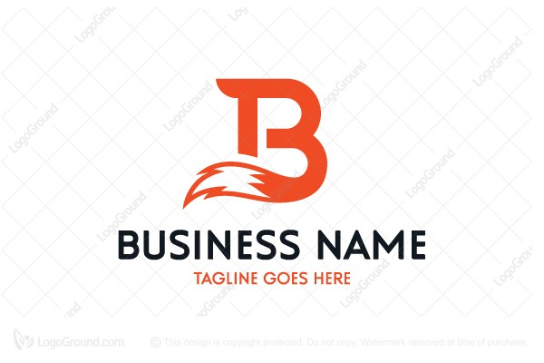 Logo for sale: Letter B Fox Tail Logo