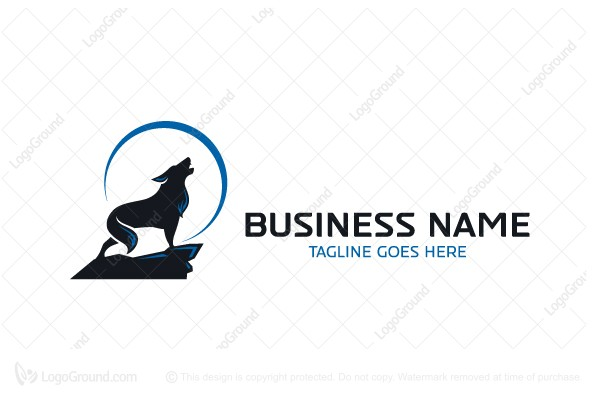 Logo for sale: Wolf Full Moon Logo
