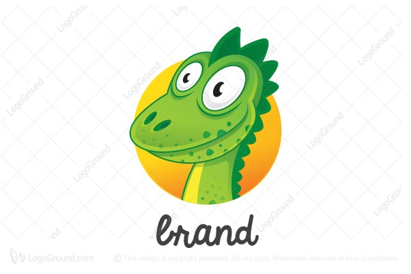 Logo for sale: Dinosaur Mascot Logo