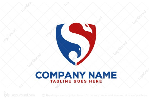 Logo for sale: Snake And Eagle Security Logo