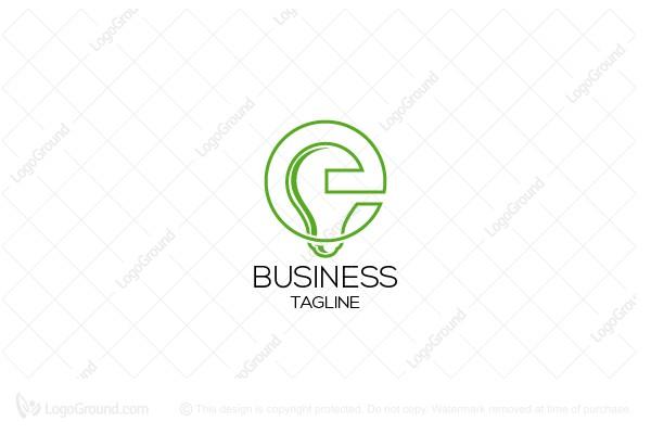 e letter electricity logo