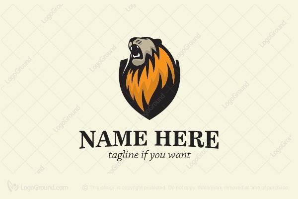 Exclusive Logo 42339, Lion Roar Logo